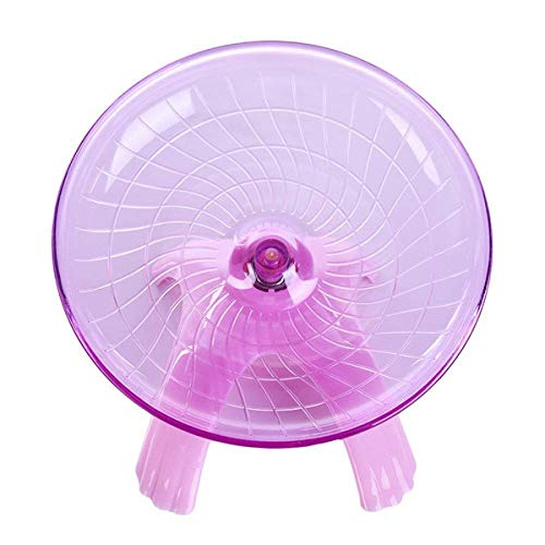 ZSWELL 1 Pack Exercise Wheel Jogging Running Hamster Flying Saucer for Syrian Hamsters Rat Gerbils Mice Chinchilla Guinea Pig Squirrel and Other Small Animal (Pink)