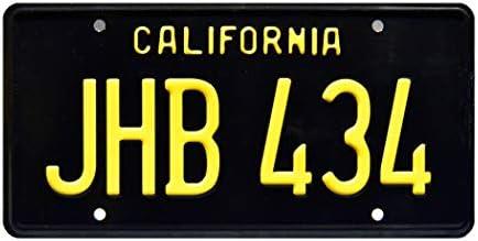 Metal Stamped License Plate JHB 434 Two Lane Blacktop