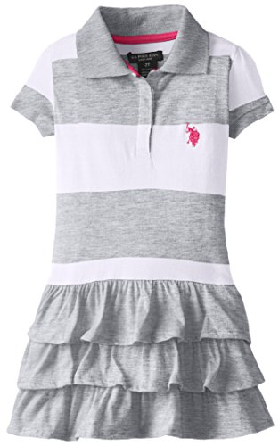 U S Polo Assn Ruffled Striped