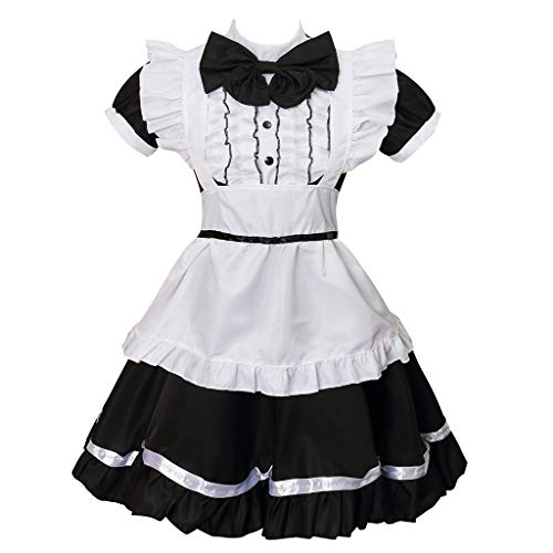 Colorful House Women's Cosplay Cat Ear French Apron Maid Fancy Dress Costume (Small, -