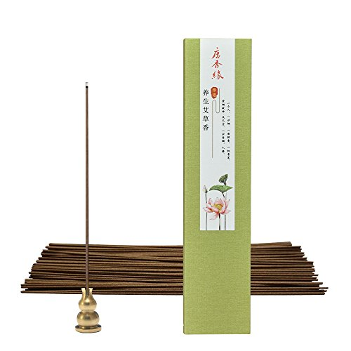 Natural Wormwood Incense Aromatherapy Incense Stick Fresh Air - Indoor Sedative Aiding Sleep Lying Incense, Includes a Holder in Each Box