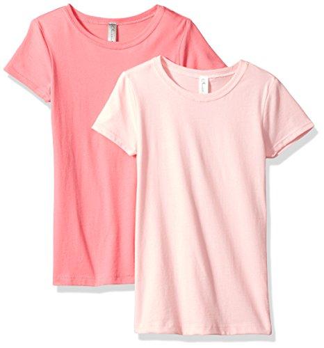 Clementine Unisex Baby Boy Everyday Short Sleeve Toddler T-Shirts Crew 2-Pack, White/Ash Grey 3T -