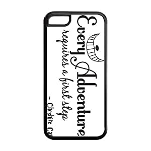 5C Phone Cases, Cheshire Cat Quote Hard Cover Case for iPhone 5C Designed by HnW Accessories