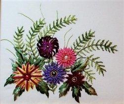 Brazilian Embroidery Design - Daisy Medley - DK Designs Brazilian Embroidery pattern & fabric #3893