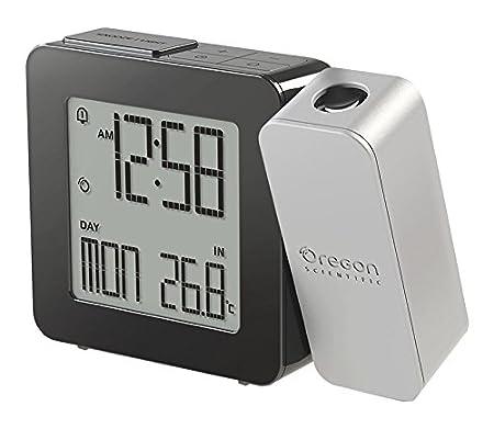 Oregon Scientific RM338P - Reloj Despertador Proyector con Temperatura Interior (Digital, AA, Negro, Gris)