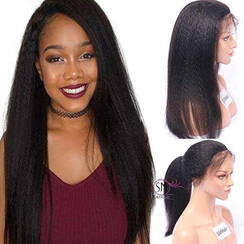 13×6 Deep Part Human Hair Lace Front Wigs Pre Plucked 150% Density SMHair Glueless Brazilian Virgin Wigs for Black Women Human Hair Natural Color 24inch