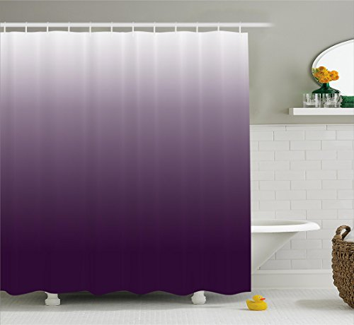 Ambesonne Ombre Shower Curtain, Gradient Perfect Harmony of...