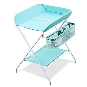 Amazon.com: Mueble cambiador portátil para bebé, organizador ...