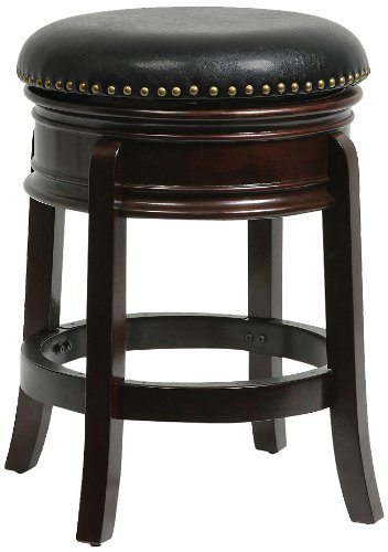 Hamilton Swivel Bar Stool - Boraam 43824 Hamilton Swivel Stool, 24-Inch, Cappuccino