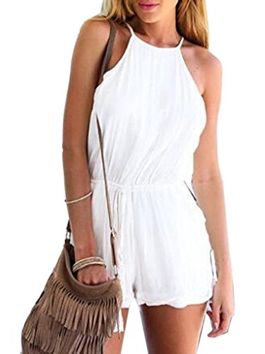 Persun Strappy Backless Romper Playsuit