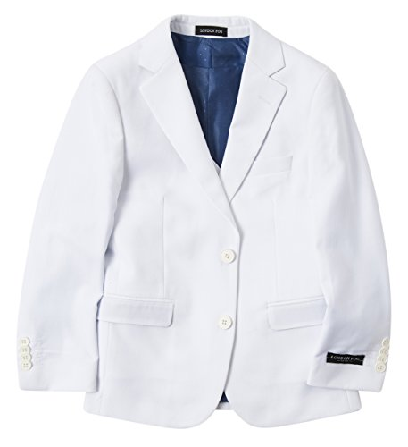 London Fog Boy's Modern Fit 3-Piece Formal Luxury Suit Set - White - 8 by London Fog (Image #1)
