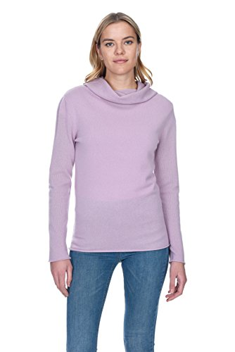 State Cashmere Women's 100% Pure Cashmere Cowl-Neck Top Sweater (Pure Sweater Cashmere)
