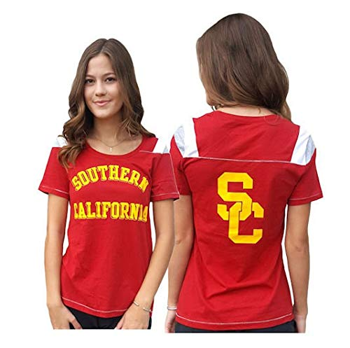 Ladies USC Trojans 2 Sided Jersey Style T Shirt by 289c (M=8/10)