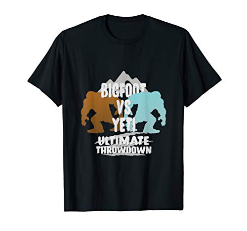 (Bigfoot Vs Yeti Ultimate Throwdown Gift T Shirt)