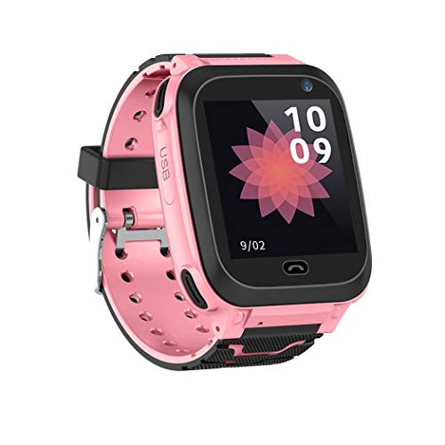 Price comparison product image Buybuybuy Kid Smart Watch GPS Tracker - IP67 Waterproof Fitness Tracker Watch Phone with SIM SOS Camera Anti-lost Game Pedometer Digital Wrist Sport Bracelet Watch iOS / Android (Pink)