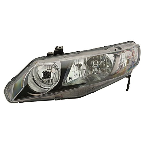 Headlight Headlamp LH Left Driver Side for Honda Civic & (Honda Civic Headlight Lh Driver)