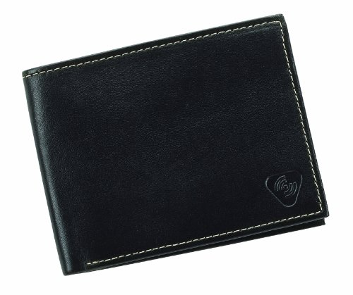 Lewis N. Clark Rfid Leather Bi-Fold Wallet, Black, One Size