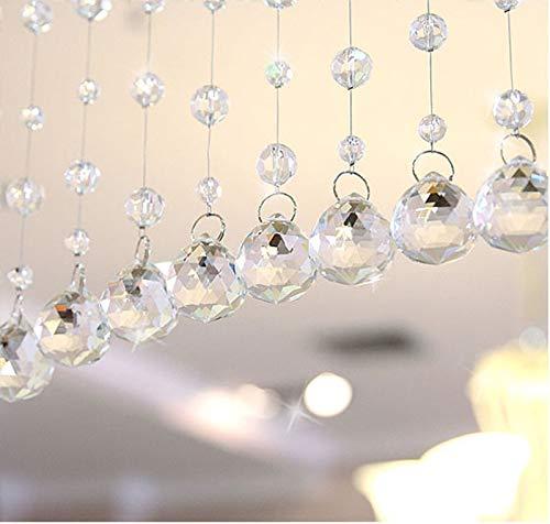 - Yu2d  1 Luxury Glass Beads Door String Tassel Curtain Wedding Divider Panel Room Decor(透明Clear)