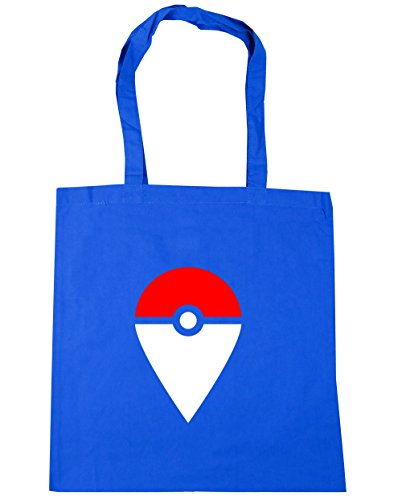 HippoWarehouse Catch Me aquí Tote Compras Bolsa de playa 42cm x38cm, 10litros Azul Aciano