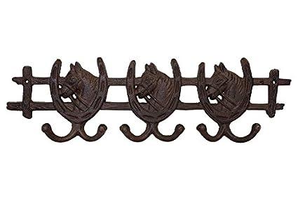 Palazzo Int - Perchero de pared caballo con herradura Hierro ...