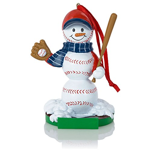 Baseball Snowman Resin Christmas Ornament | Baseball Ornaments by ChalkTalk SPORTS Baseball Christmas Ornaments