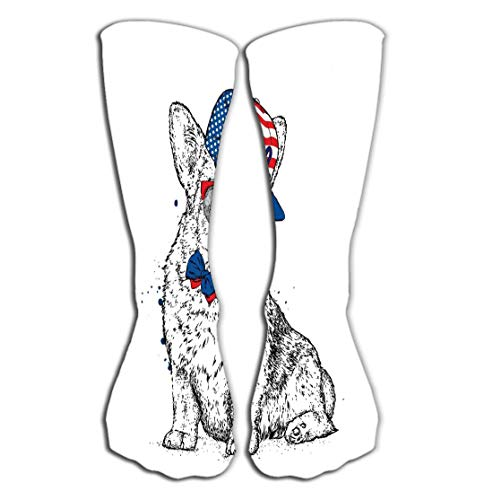 - Xunulyn Outdoor Sports Men Women High Socks Stocking Cute Puppy Cap Glasses Pedigree Dog Welsh Corgi Cute Puppy Cap Glasses Pedigree Dog Tile Length 19.7