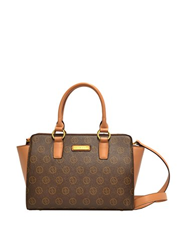 Adrienne Vittadini Signature Collection Double Handle Satchel 13 X 10 X 5 3/4 7 STRAP Chocolate Adrienne Vittadini Collection