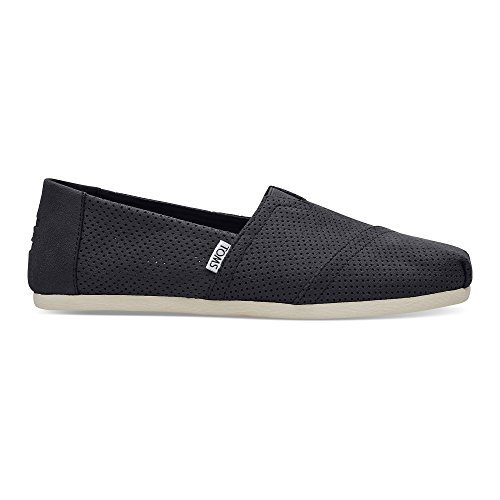 TOMS Men's Seasonal Classics Black Perforated Synthetic Suede 9 D US