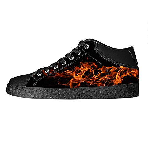 Top S Dalliy Men' Sneakers B Panno High Shoes Tela Fuoco Vela Up Scarpe A Canvas Di Lace qEEzwH