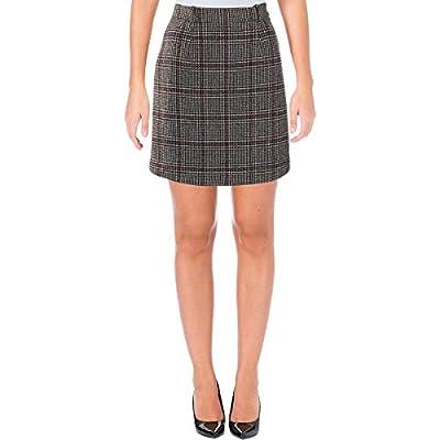 Carven Womens Wool Plaid Mini Skirt