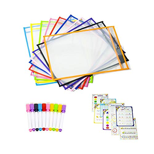 Dry Erase Pockets Dry Erase Pockets Reusable Oversized Perfect Teacher Supplies for Classroom Organization and Decorations by Cisco72