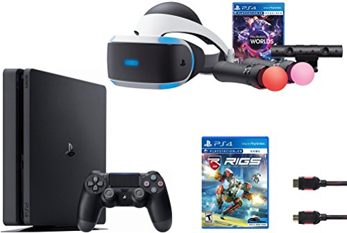 PlayStation VR Launch Bundle 3 Items:VR Launch Bundle, PlayStation 4 Slim 1TB,VR Game Disc RIGS Mechanized Combat League by Sony VR