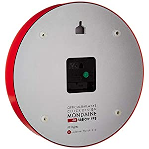 Mondaine Reloj Pared Moderno en Color Rojo, A990.Clock.11SBC, 25 CM 2