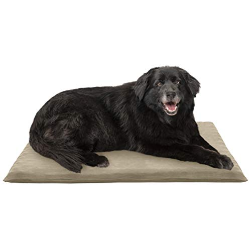 FurHaven Pet Dog Mattress | Suede Orthopedic Mat for Dogs & Cats, Clay, Large