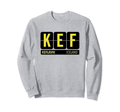 KEF Keflavik Iceland Travel Souvenir Yellow Sweatshirt
