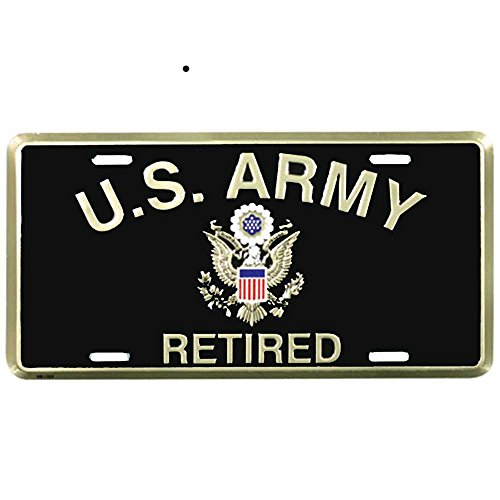Honor Country US Army Retired License - Plate Retired License Army