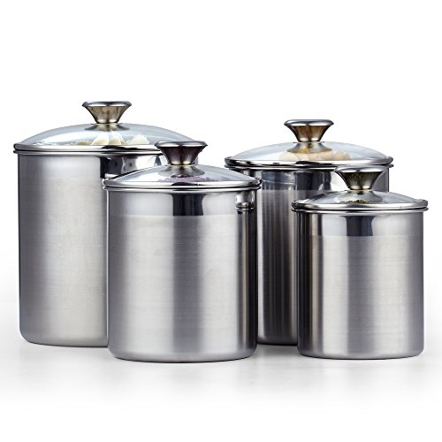 Cooks Standard 02553 4 Piece Canister Set, Stainless Steel