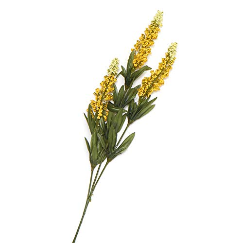 Yellow Artificial Spray - Factory Direct Craft Yellow Artificial Butterfly Bush Spray   6 Pieces