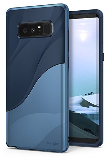 Samsung Galaxy Note 8 Phone Case Ringke [WAVE] [Coastal Blue] Dual Layer Heavy Duty Textured Shock Absorbent PC TPU Full-Body Drop Resistant Protection Ergonomic Design Cover for Galaxy Note8