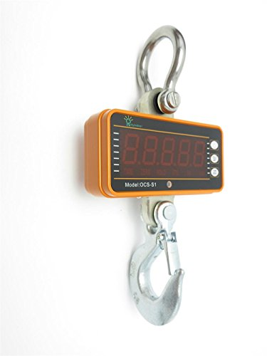 Hyindoor 1000kg/2000lb Digital Hanging Scale Industrial Heavy Duty Crane Scale Smart High Accuracy Electronic Crane Scale (1000kg with remote control) by HYINDOOR (Image #5)