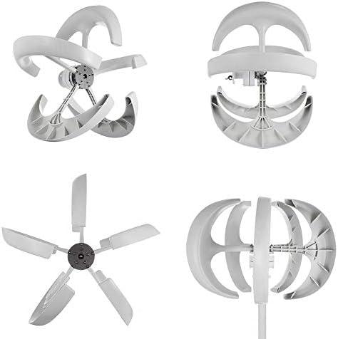 GJZhuan 600W AC Wind Turbines Generator 5 Blades Vertikale Achse Laterne Typ 12V 24V Motor Kit Vertikale Achse Elektromagnetische for Privatanwender Hybrid Straßenbeleuchtung Verwenden (Size : 12V)