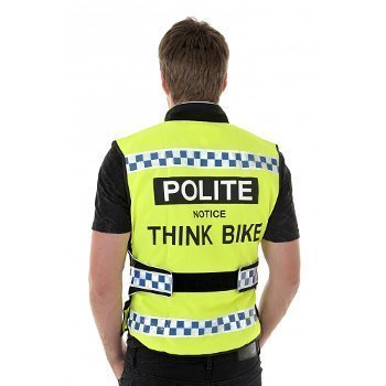 08105e66d EQUISAFETY POLITE CYCLING BIKE WAISTCOAT - HIGH VISIBILITY - FULLY  ADJUSTABLE WAIST WITH VELCRO STRAPS (