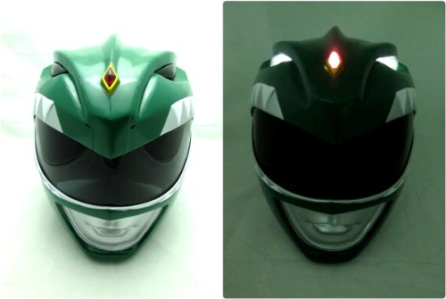Light up Mighty Morphin White Power Rangers Cosplay Helmet Life Size - Green Mighty Morphin Power Ranger Halloween Costume