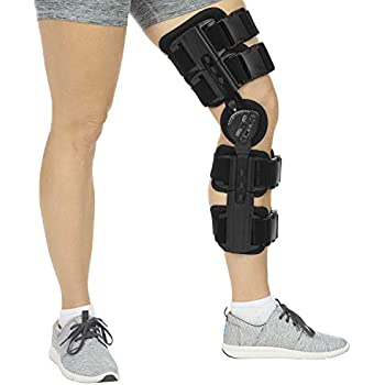 Amazon com: Hinged Knee Brace ROM Knee Immobilizer Brace Leg Braces