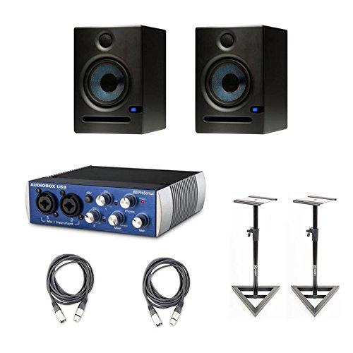 PreSonus Eris E5 2-Way 5.25'' Nearfield Studio Monitor Pair w/ Stands & Cables