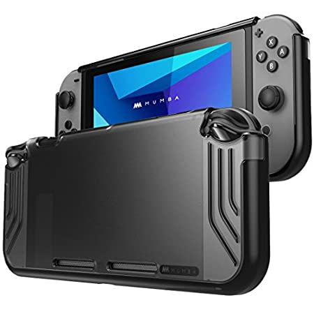 Mumba Nintendo Switch case, [Slimfit Series] Premium Slim Clear Hybrid Protective Case for Nintendo Switch 2017 release (Black)