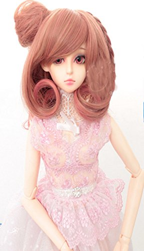 OYSRONG Cute Short Curly 1/3 BJD/SD Doll One Clip Braid Wig For Girls