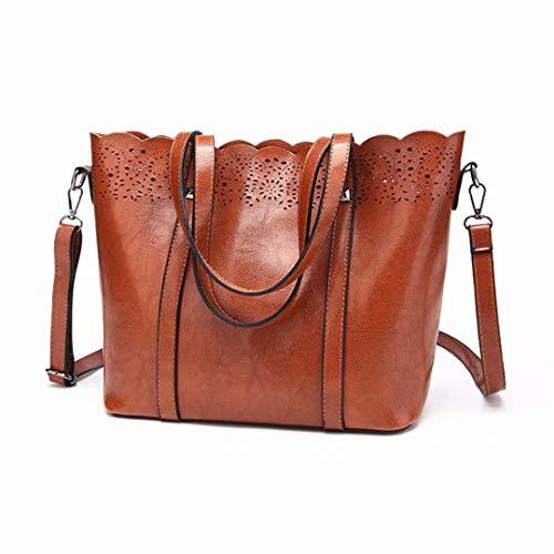 Bag Box G Single Ladies PU Simple Blue Large brown Messenger C Female Capacity Shoulder Handbag Fashion RwqP57Bqx