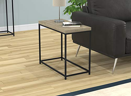 (Safdie & Co. 81042.Z.05 Accent Table-Dark Taupe/Black Metal,)