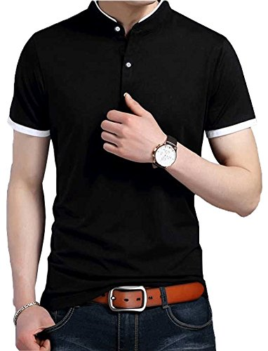 ポロシャツ D-ZHEN メンズ 半袖 無地 通気性 薄手 吸汗 カジュアル ゴルフ シャツ Polo613
